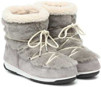 Yves Salomon x Moon Boot shearling ankle boots