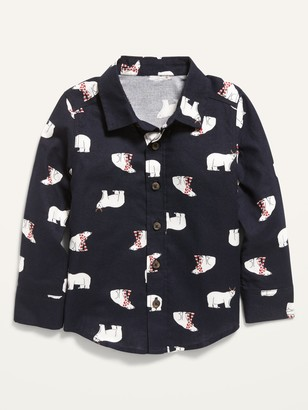 Old Navy Printed Pocket Shirt for Toddler Boys