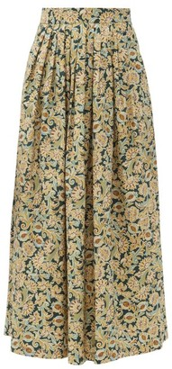 Max Mara Liser Midi Skirt - Yellow Multi
