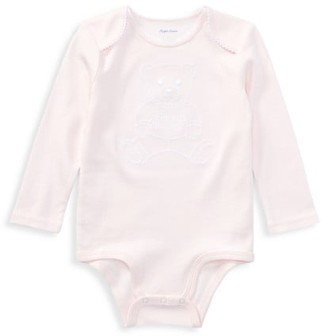 Ralph Lauren Baby Girl's Bear Embroidery Bodysuit