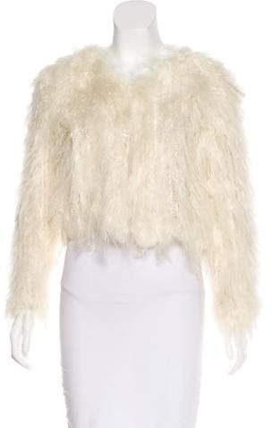 Alice + Olivia Fur Open Front Jacket w/ Tags