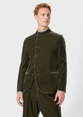 Giorgio Armani Velvet Jacket With Off-Centre Buttons