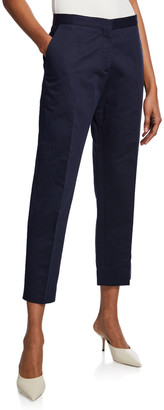 Marni Cotton-Linen Cropped Trousers