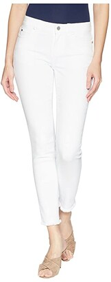 Vince Camuto Five-Pocket Frayed Hem Ankle Jeans in Ultra White (Ultra White) Women's Jeans