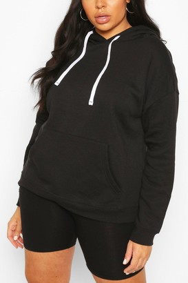 boohoo Plus Basic Black Hoody