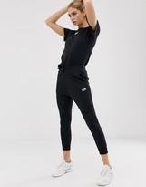 adidas RYV cuffed sweatpants in black