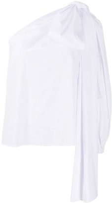 BERNADETTE Oversized Shoulder Bow Blouse