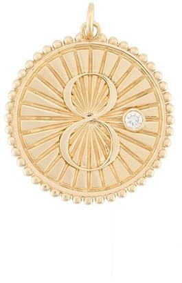 Foundrae 18kt yellow gold Karma Medallion charm