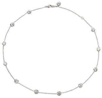 Adriana Orsini Sterling Silver & Cubic Zirconia Bezel-Set Station Necklace