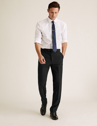 Marks and Spencer The Ultimate Black Regular Fit Trousers