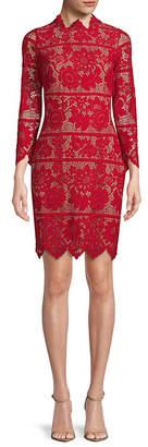 For Love & Lemons Rosetta Lace Sheath Dress