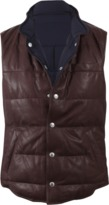 Brunello Cucinelli Reversible Quilted Leather Vest