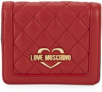 Love Moschino Logo Quilted Bi-Fold Wallet