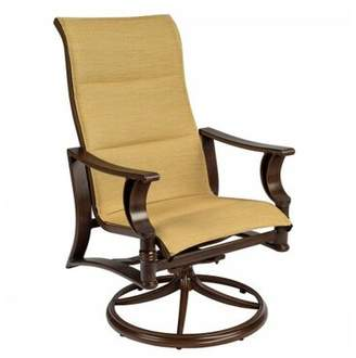 Augustine Woodard Arkadia Rocker Patio Dining Chair Woodard Seat Color Alloy, Frame Color: Pewter Finish