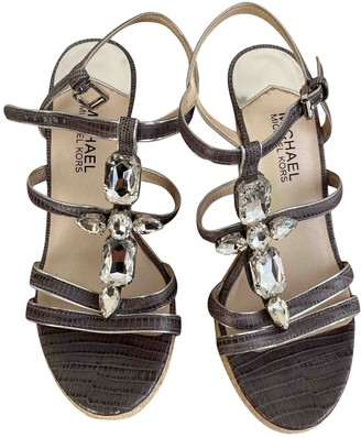 Michael Kors Grey Leather Sandals