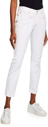 Eileen Fisher Plus Size Organic Skinny Ankle Jeans, White