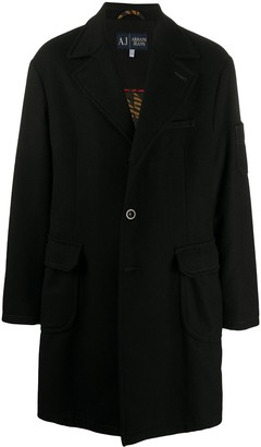Giorgio Armani Pre Owned 1990s Notched Lapels Thigh-Length Coat