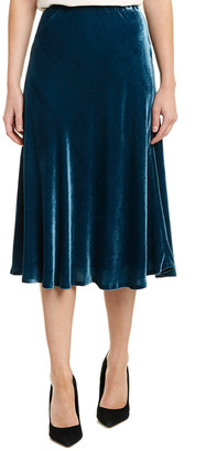 Lafayette 148 New York Nelya Silk-Blend Midi Skirt