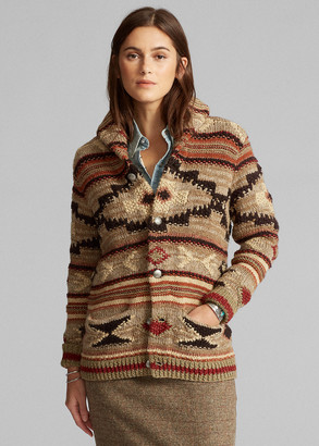 Ralph Lauren Hand-Knit Wool-Blend Cardigan