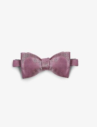 Eton Paisley print silk bow tie