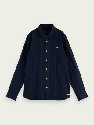 Scotch & Soda 100% cotton rolled sleeve oxford shirt | Boys