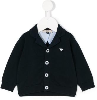 Emporio Armani Kids Logo Plaque Knitted Jacket