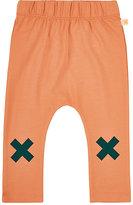 Tiny Cottons X-Print Stretch Pima Cotton Leggings-ORANGE