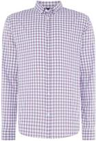 Armani Jeans Regular Fit Long Sleever Large Check Shirt