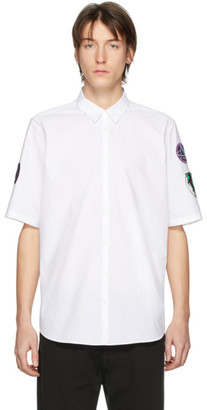 Raf Simons White Patches Slim Fit Short Sleeve Shirt