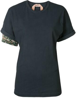 No.21 floral detail T-shirt