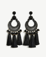 Ann Taylor Filigree Tassel Earrings