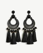 Ann Taylor Filigree Tassel Earrings