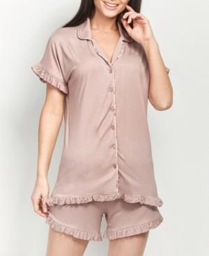 MOOD Pajamas Ultra Soft Little Ruffle Short Set