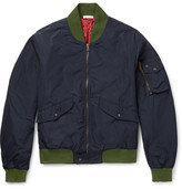 Tomas Maier Contrast-Trimmed Shell Bomber Jacket