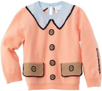 Burberry Trompe L'oeil Intarsia Wool-Blend Sweater