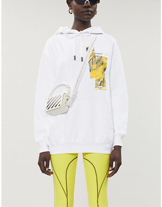 Off-White Graphic-print cotton-jersey hoody