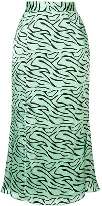 Olivia Rubin zebra print skirt