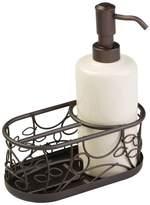 InterDesign Twigz Kitchen Soap Dispenser Pump with Sponge and Scouring Pad Holder - Bronze/Vanilla