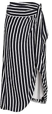 Jonathan Simkhai Women's Multimedia Stripe Wrap Skirt