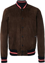 Moncler striped trim bomber jacket - men - Leather - 3