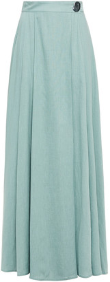 REJINA PYO Tencel And Linen-blend Maxi Wrap Skirt