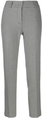 Piazza Sempione Houndstooth Tailored Trousers