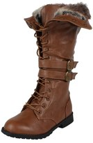 DEV Women's New Latest Fur Lining Fashion Shanghai Winter Lace Up Boot