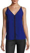 Elie Tahari Elena Sleeveless Embellished Blouse