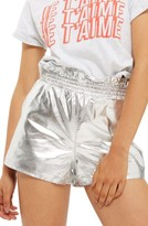 Topshop Women's Faux Leather Paperbag Shorts