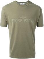 Stone Island logo print T-shirt - men - Cotton - L
