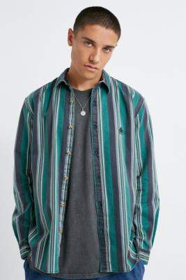Urban Outfitters Green Multi-Stripe Twill Shirt - green S at