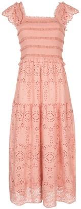Sea Daisy eyelet smocked dress
