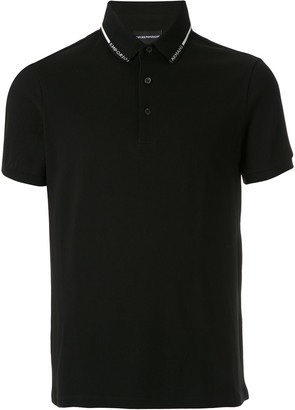 Emporio Armani Logo-Tape Short-Sleeve Polo Shirt