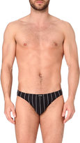 Hom Pinstripe Stretch-cotton Micro Briefs
